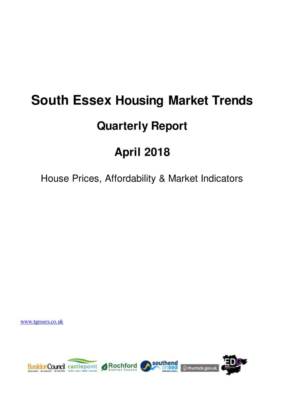 SE Housing Market Trends Quarterly Report April 2018