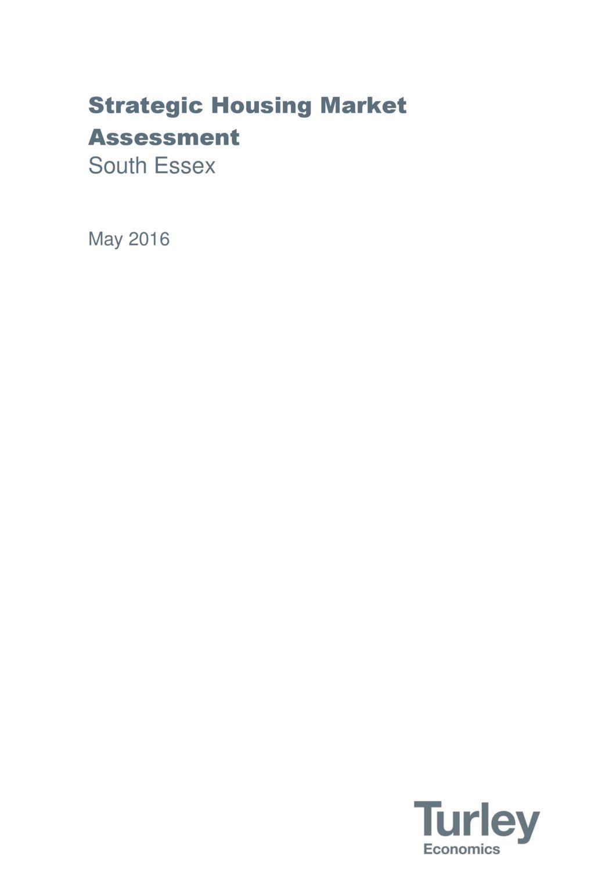 South Essex Strategic Housing Market Assessment No Appendices