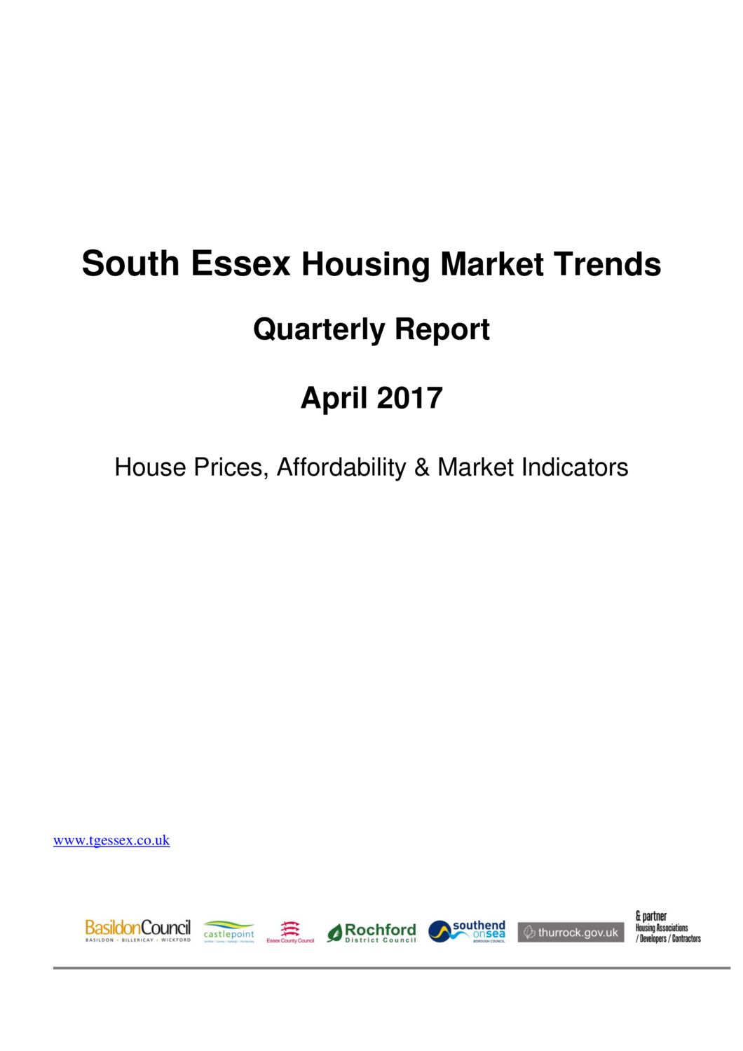 SE Housing Market Trends Quarterly Report April 2017