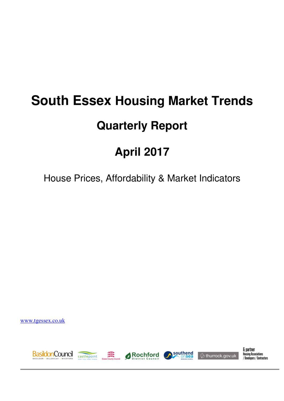 SE Housing Market Trends Quarterly Report April 2017