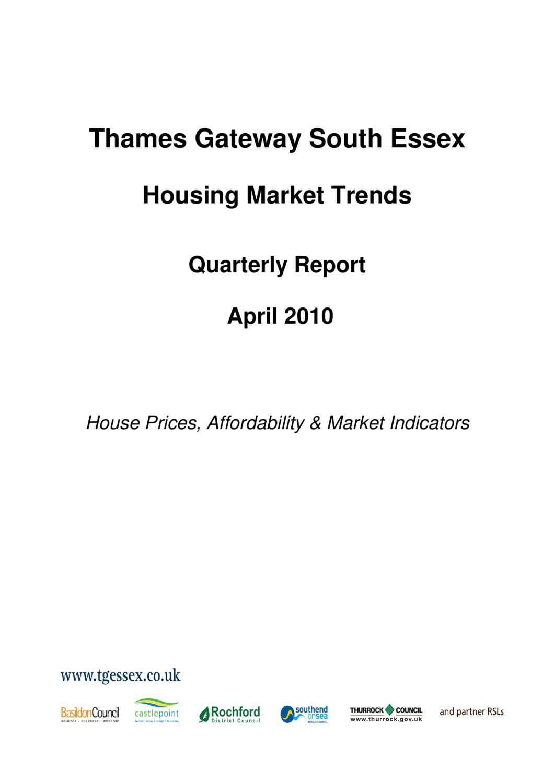 SE Housing Market Trends Quarterly Report April 2010