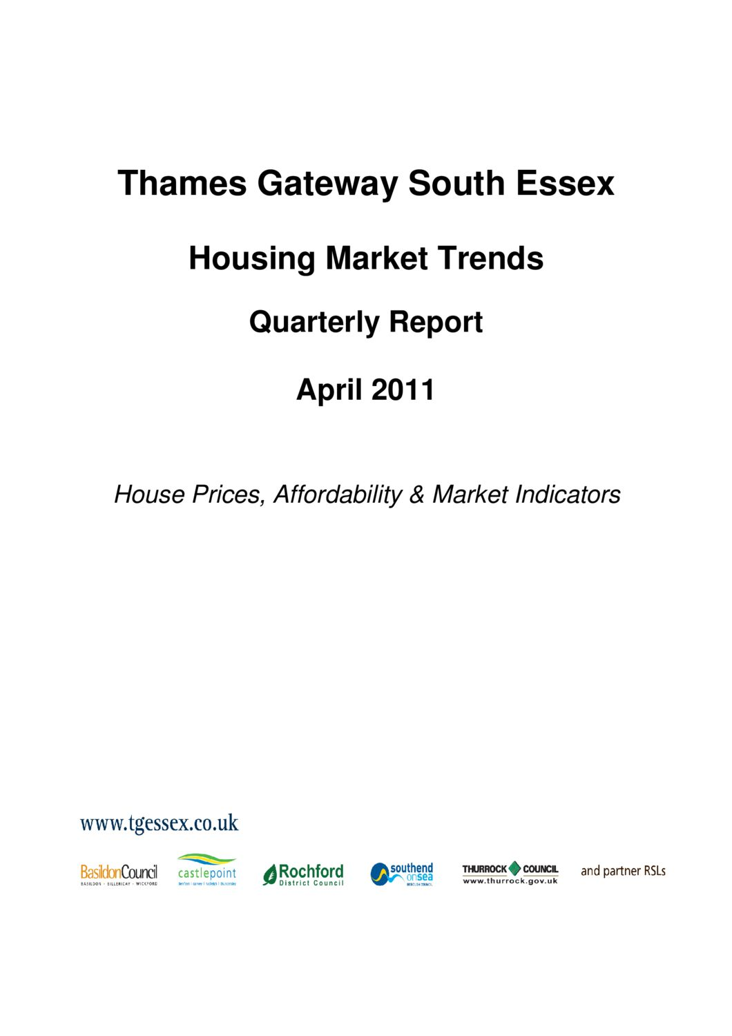 SE Housing Market Trends Quarterly Report April 2011
