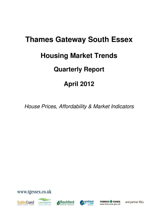 SE Housing Market Trends Quarterly Report April 2012