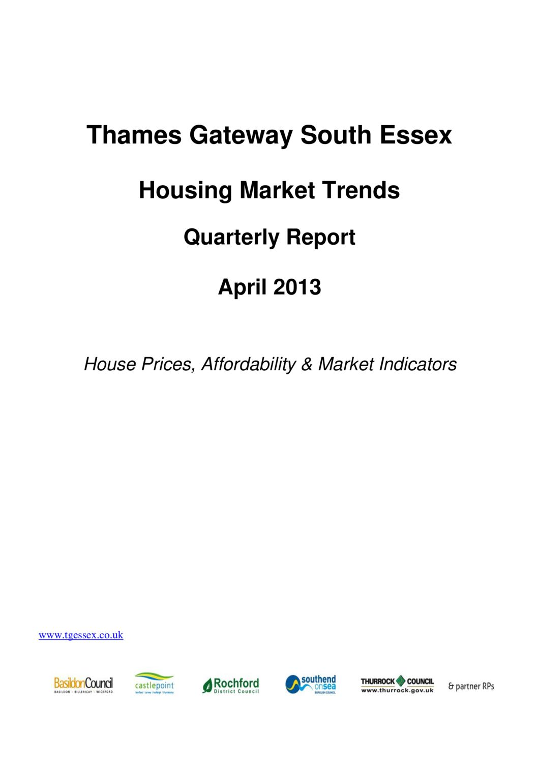 SE Housing Market Trends Quarterly Report April 2013
