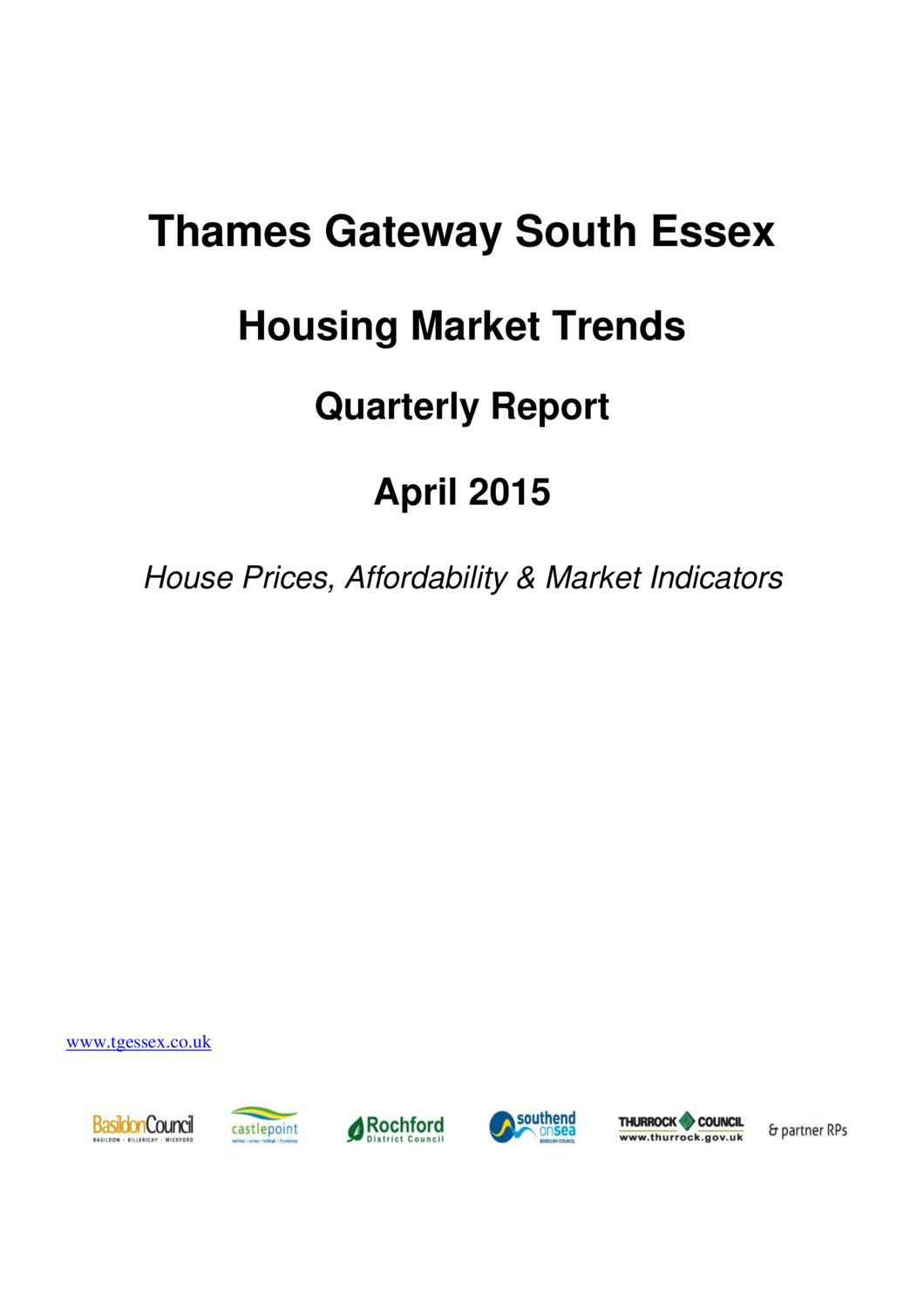 SE Housing Market Trends Quarterly Report April 2015