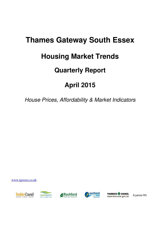 SE Housing Market Trends Quarterly Report April 2015