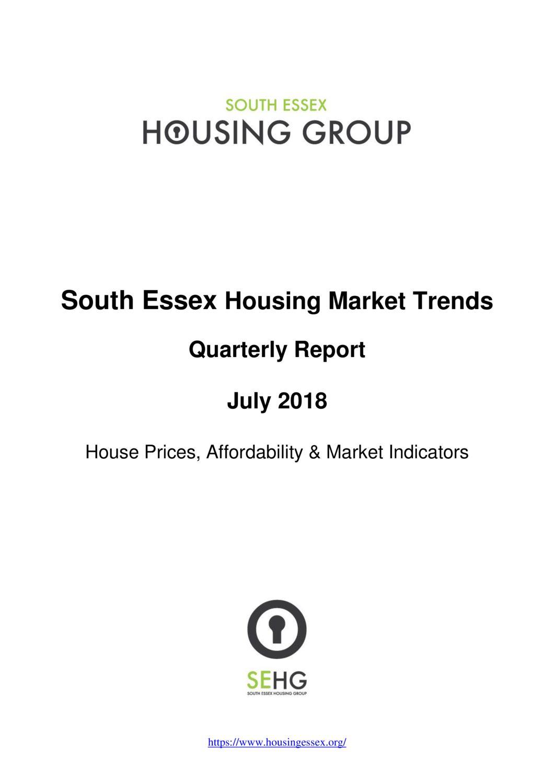 SE Housing Market Trends Report July 2018