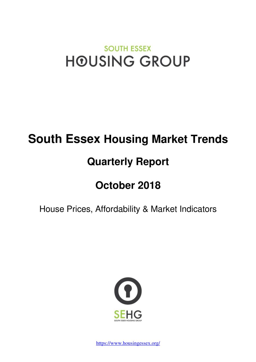 South Essex Housing Market Trends Report October 2018
