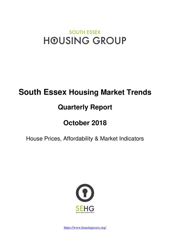 South Essex Housing Market Trends Report October 2018