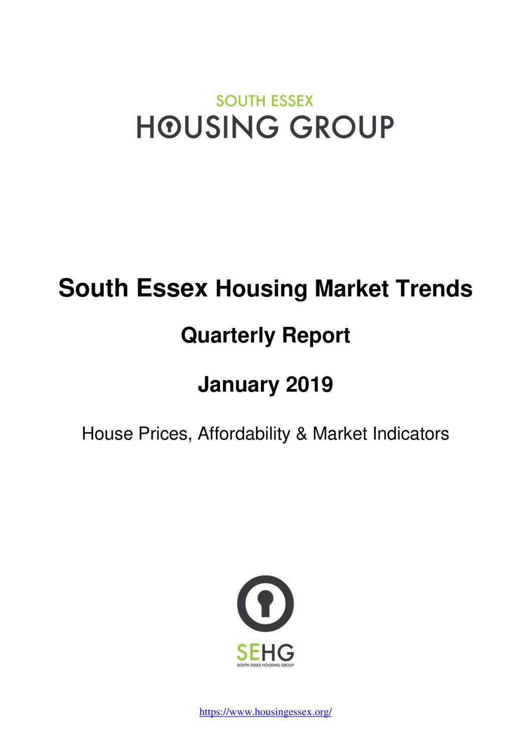 South Essex Housing Market Trends Report January 2019