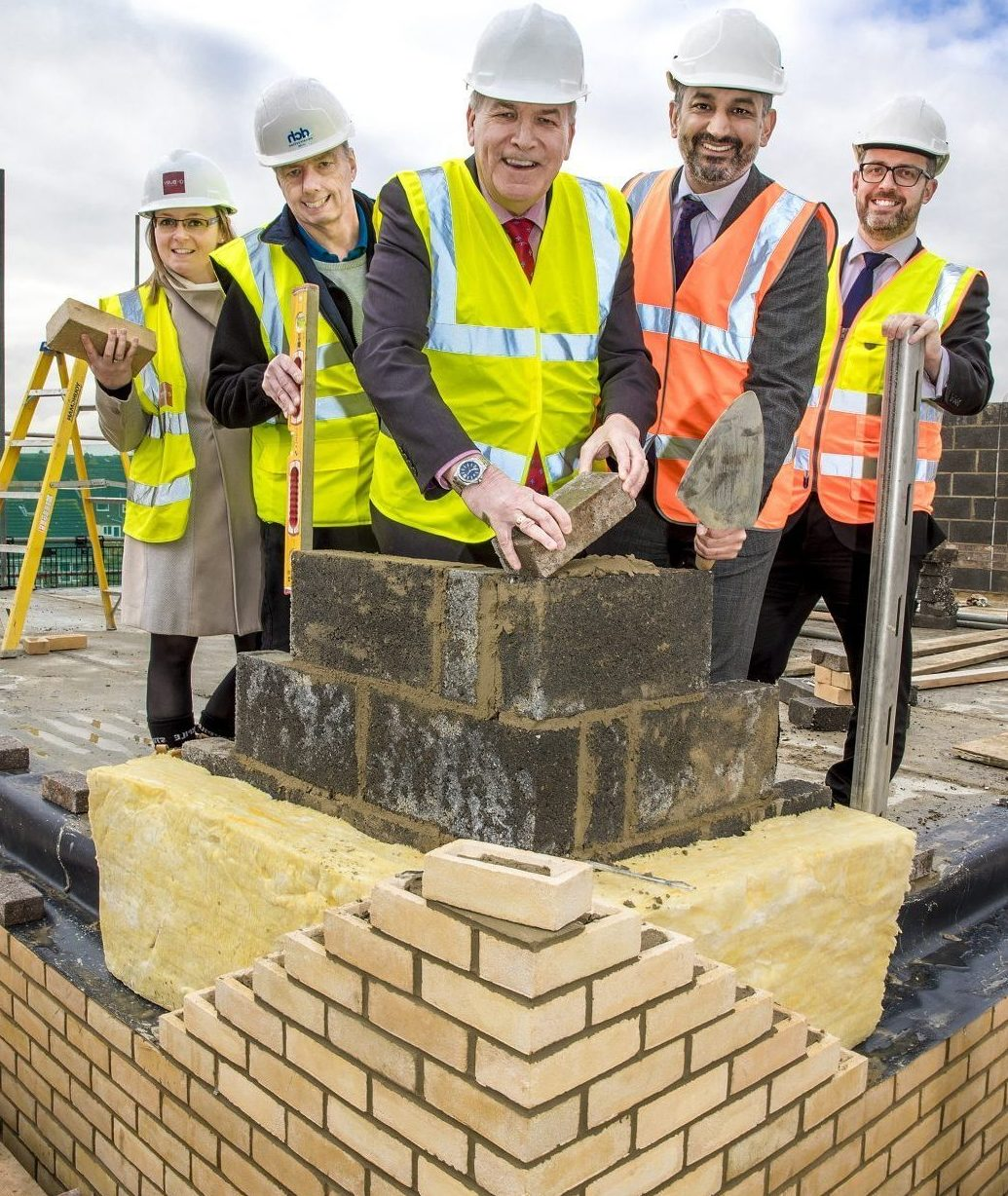 Topping out ceremony celebrates new development of 26 homes in Chelmsford moving one step closer to completion
