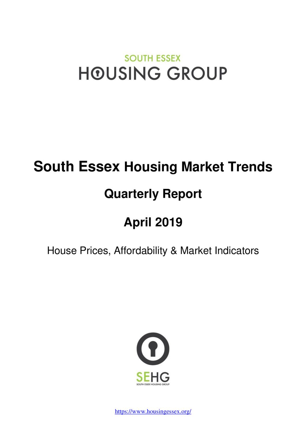 SE Housing Market Trends Quarterly Report April 2019