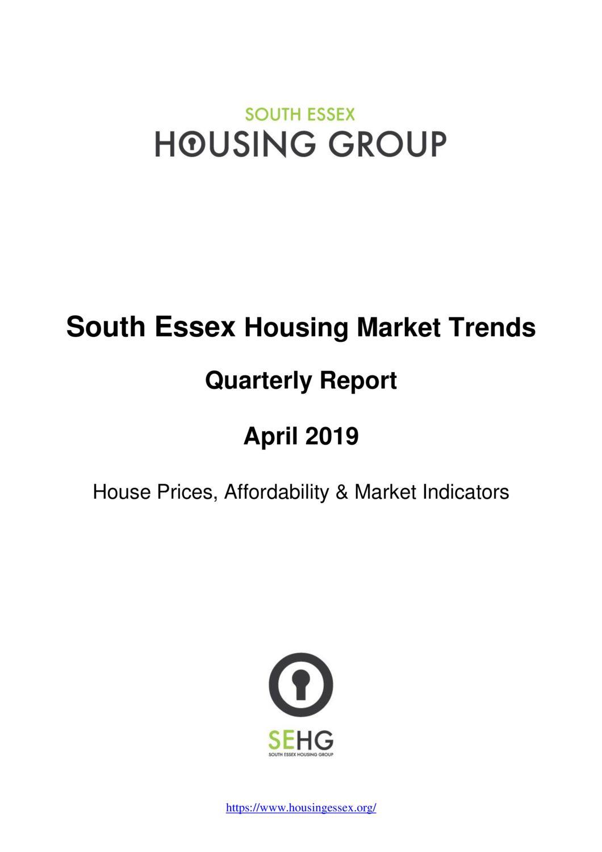 SE Housing Market Trends Quarterly Report April 2019
