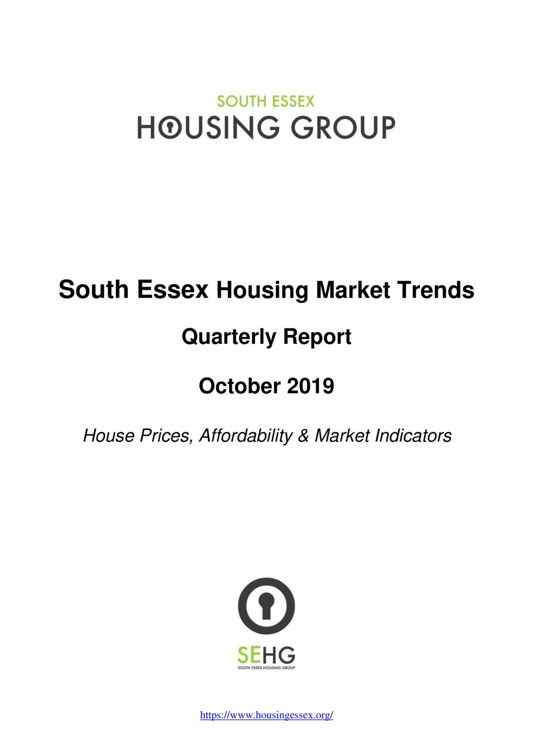South Essex Housing Market Trends Report  October 2019