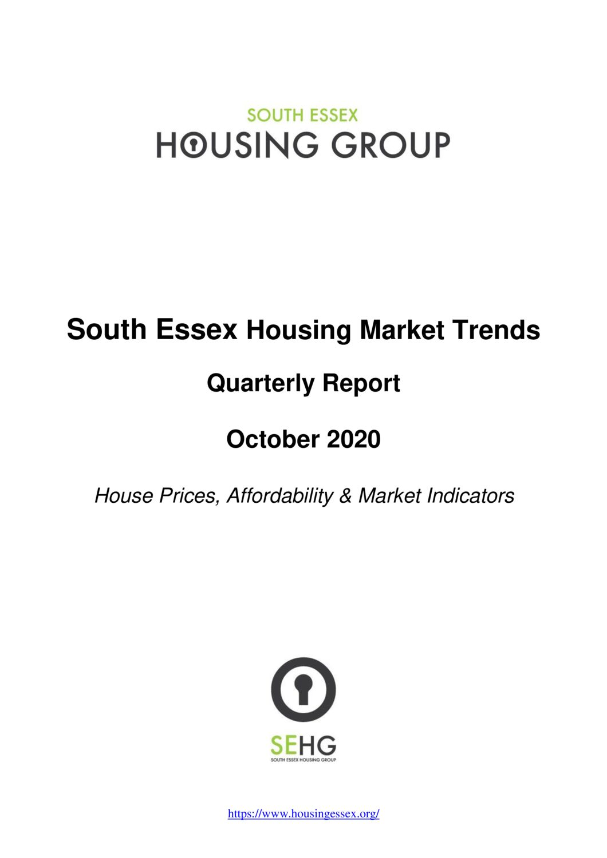 South Essex Housing Market Trends Report October 2020